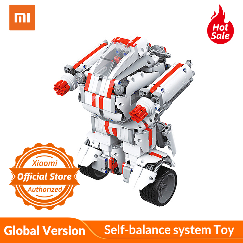 Global Version Xiaomi Mitu Building Block Robot Self balance system Toy for Kids Remote Controlled by
