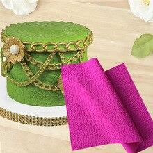 Large Lace Gathering Mat Crocodile Skin Texture Embosser Confeitaria Fondant Cake Silicone Molds Cupcake Moulds Cake Decoration
