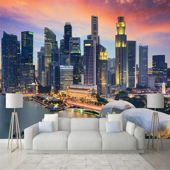 Wallpapers YOUMAN Custom 3d Modern High Quality Photo Wallpaper Large Indoors Tv Background Wall Mural City Scenery