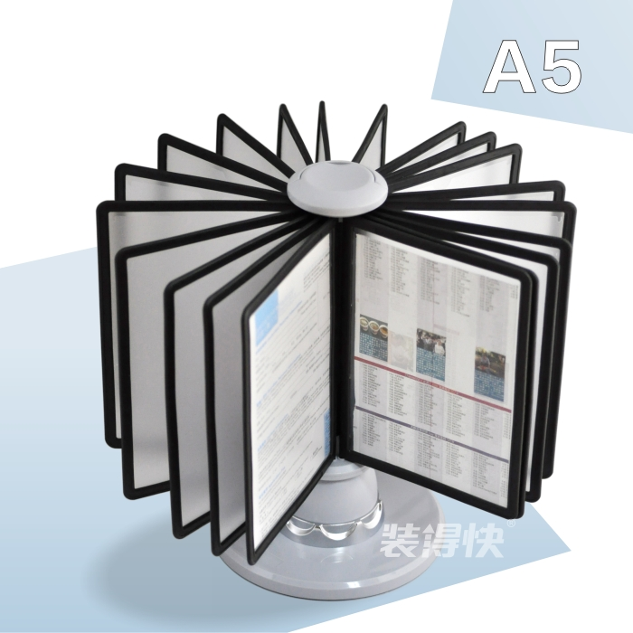 A5 Pageflip Page File Holder Rotating Display Rack