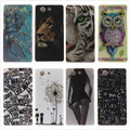 Soft Case sFor Coque Sony Z3 Mini Glossy TPU Case Back Cover Owl Phone Case for Sony Xperia Z3 Compact Z3Mini D5803 D5833 M55W