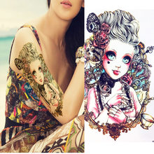427864676 TOMTOSH Body Art Beauty Makeup Rosy Dangerous Sexy Cute Girl Doll Tattoo 3D  Waterproof Temporary Tattoo Stickers