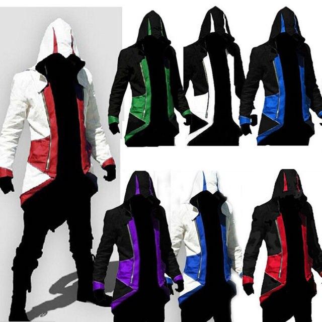 84d789cbf7b7 Estilo Slim fit Sudaderas Assassins Creed Cosplay Conner Kenway Capucha  para hombre chaquetas y abrigos Abrigo