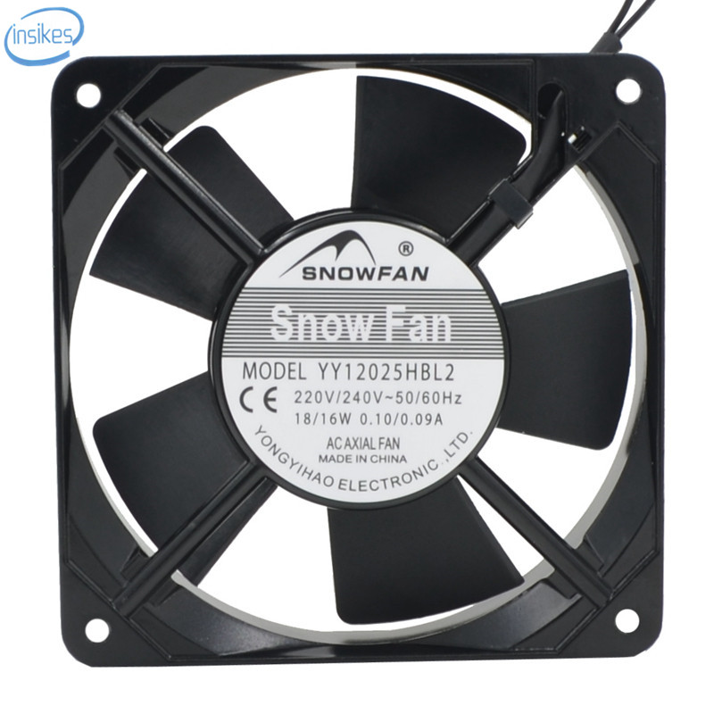 все цены на  YY12025HBL2 Double Ball Bearing Cooling Fan AC 220V 18/16W 0.1/0.09A 2500RPM 12CM 12025 120*120*25mm 2 Wires  онлайн