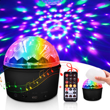LED Disco Ball Lights 9 Colors 9W Magic Projector Stage Light Club lamp Effect Mini Wireless Bluetooth Speaker with Remote(China)