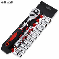 Ninth World 1set 1 4 3 8 1 2 Vanadium Steel Torque Ratchet Wrench Set CR