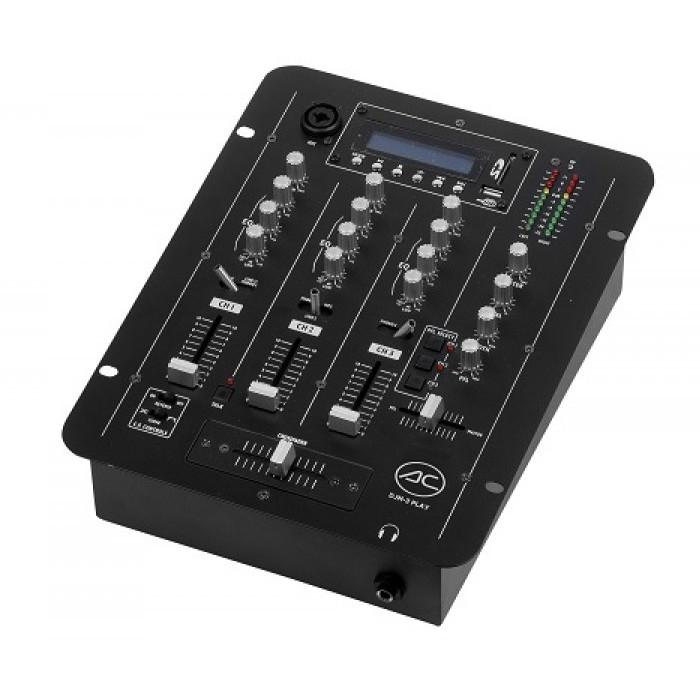 Mixer 3canales Mp3 USB 2 Outputs Djm-3play