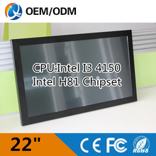 22″ all in one pc touch screen with 2GB RAM 500G HDD/ 1680X1050 industrial computer with CPU Intel I3 4150 3.5GHz