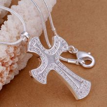 P236_2 Hot selling 925 sterling silver Necklace, 925 silver fashion jewelry Cross ax /axbajoia cvaalmha