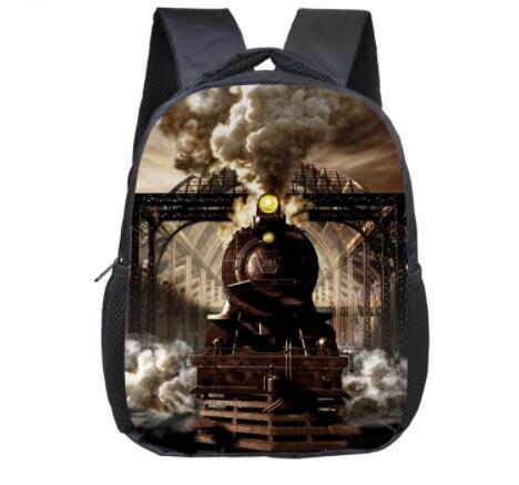 Локомотив паровоз детский сад рюкзак 12 дюймов дети Школьные ранцы мини Mochila Дошкольный рюкзак для детей книга Сумка