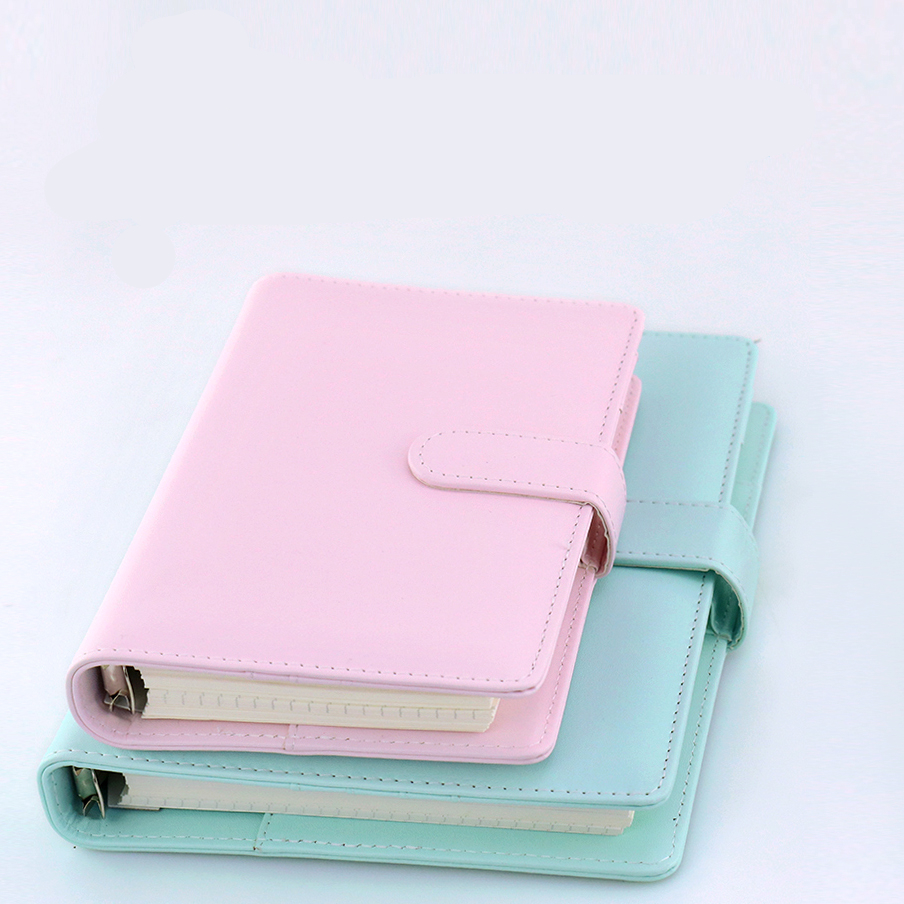 Candy color Cute Kawaii Notebook Cartoon Molang Journal Diary Planner Notepad for Kids Gift Korean Stationery Three Covers W0004
