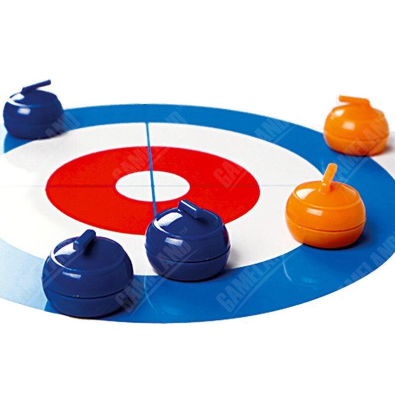 테이블 커링 보드 가족을위한 게임 - 학교 교육 키즈 게임 완구 컬링 28 * 120cm - 1 개의 테이블 보 및 8 개의 공