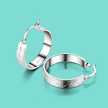 Women's 925 sterling silver earrings bohemia the letter design Solid silver earrings lady popular jewelry birthday present