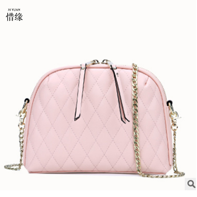 XIYUAN BRAND Genuine Leather Women pink Bag Party Clutch Evening Bags Fashion Ladies Shoulder Crossbody Messenger Bags for women