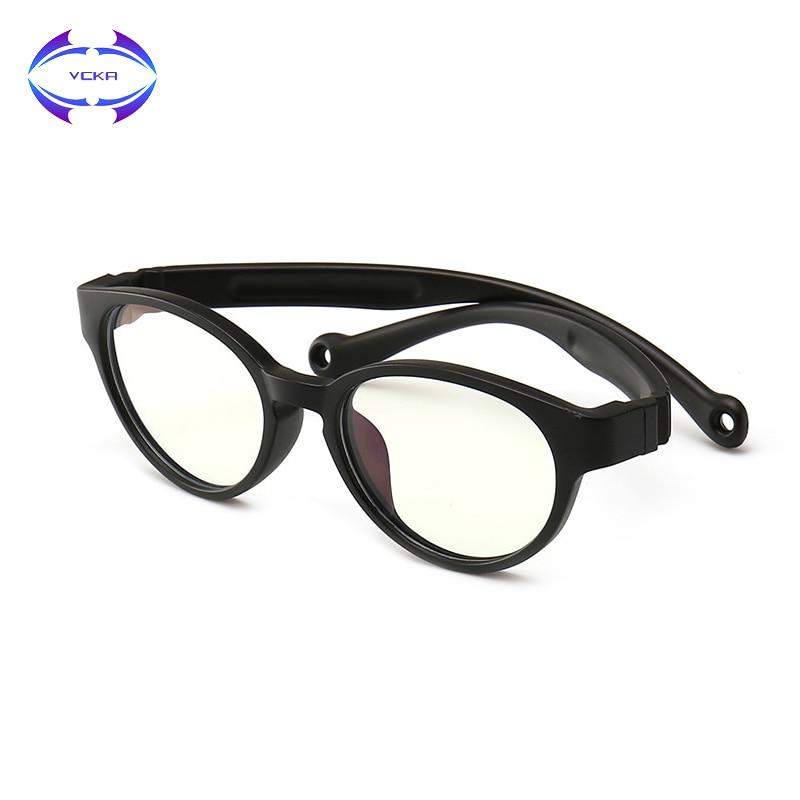 ungleich in der Leistung hohes Ansehen bester Ort für VCKA 2019 Kinder Anti-blau Blocking Gläser Computer Brille Anti UV Kind  Brillen Rahmen Flexible Brillen Zubehör