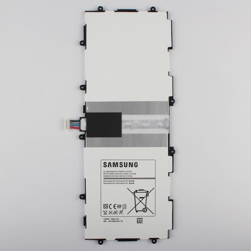 imágenes para 100% Original T4500E Batería de Repuesto Para Samsung GALAXY Tab 3 P5200 P5210 P5220 Auténtica Tableta de La Batería 6800 mAh