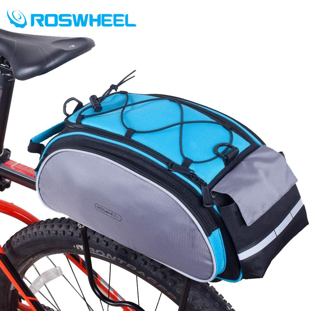 Roswheel 14541 Mountain Road Bike Bicycle Cycling Rear Seat Rack Trunk Bag Pack Pannier Carrier Shoulder Bag Handbag 13L roswheel 14892 mountain road bicycle bike 3 in 1 trunk bags cycling double side rear rack tail seat pannier pack luggage carrier