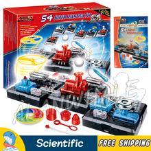 54 Super Scientific Set Brain Physics Science Kits Experiment Electronics Discovery Kit Toys Building 3D DIY ABS Educational Toy