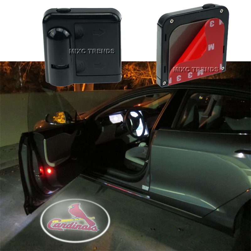 2X Arsenal Chelsea Wireless Car LED Door Light No Drill welcome Logo Projector Laser Ghost Shadow Light 2 pcs fc barcelona wireless led car door projectors