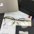 Ouro do vintage Vidros do Olho Quadro Para Homens Mulheres Retro Óculos Quadrados Óculos Quadros de Óculos Óptica óculos de Lente Transparente