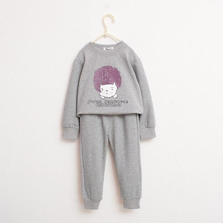 2018 autumn children's wear cartoon home wear sweater shirt and trousers