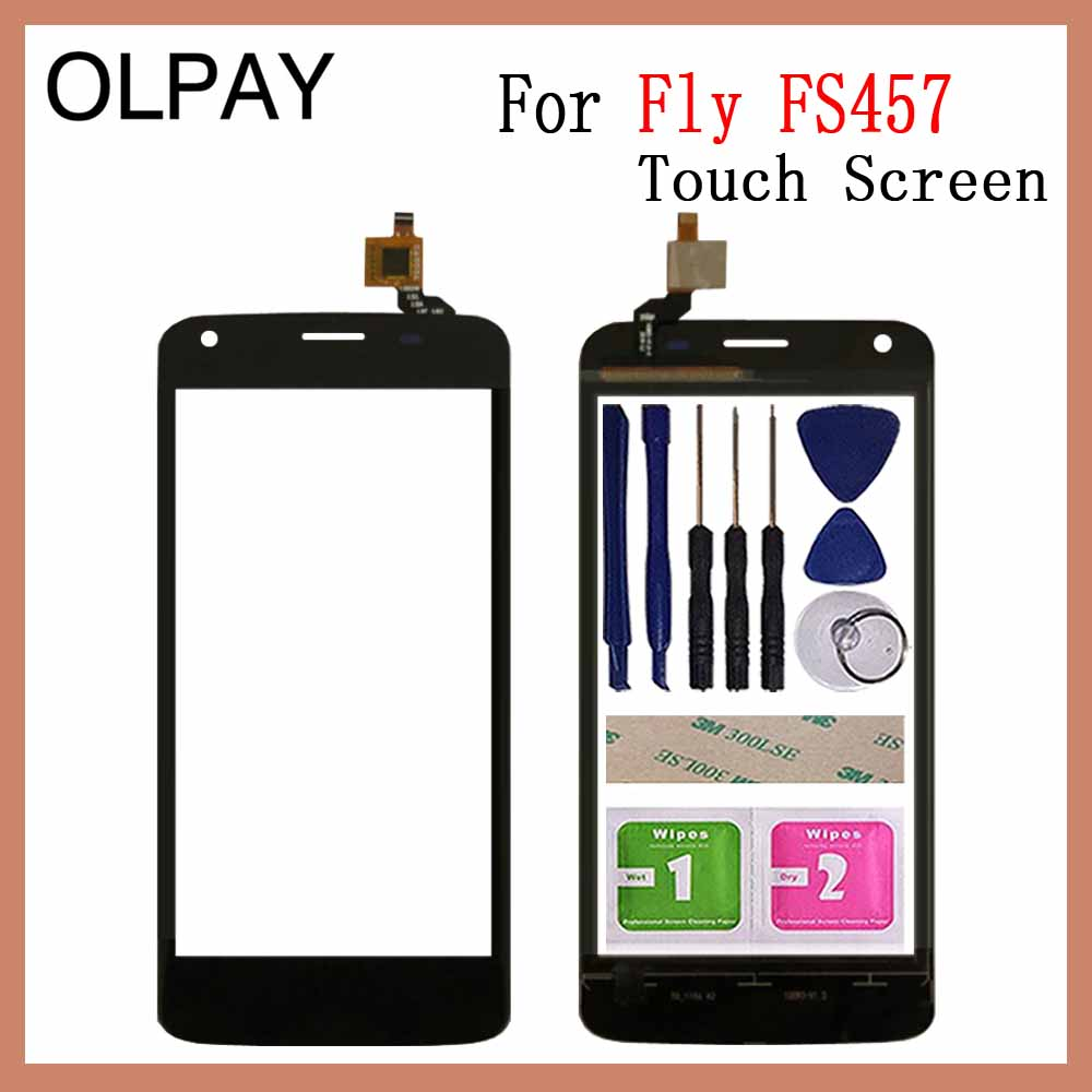 OLPAY 4.5 100% New Original For Fly FS457 Nimbus 15 Touch Screen Digitizer Panel Front Glass Lens Sensor Tools Adhesive+Wipes image