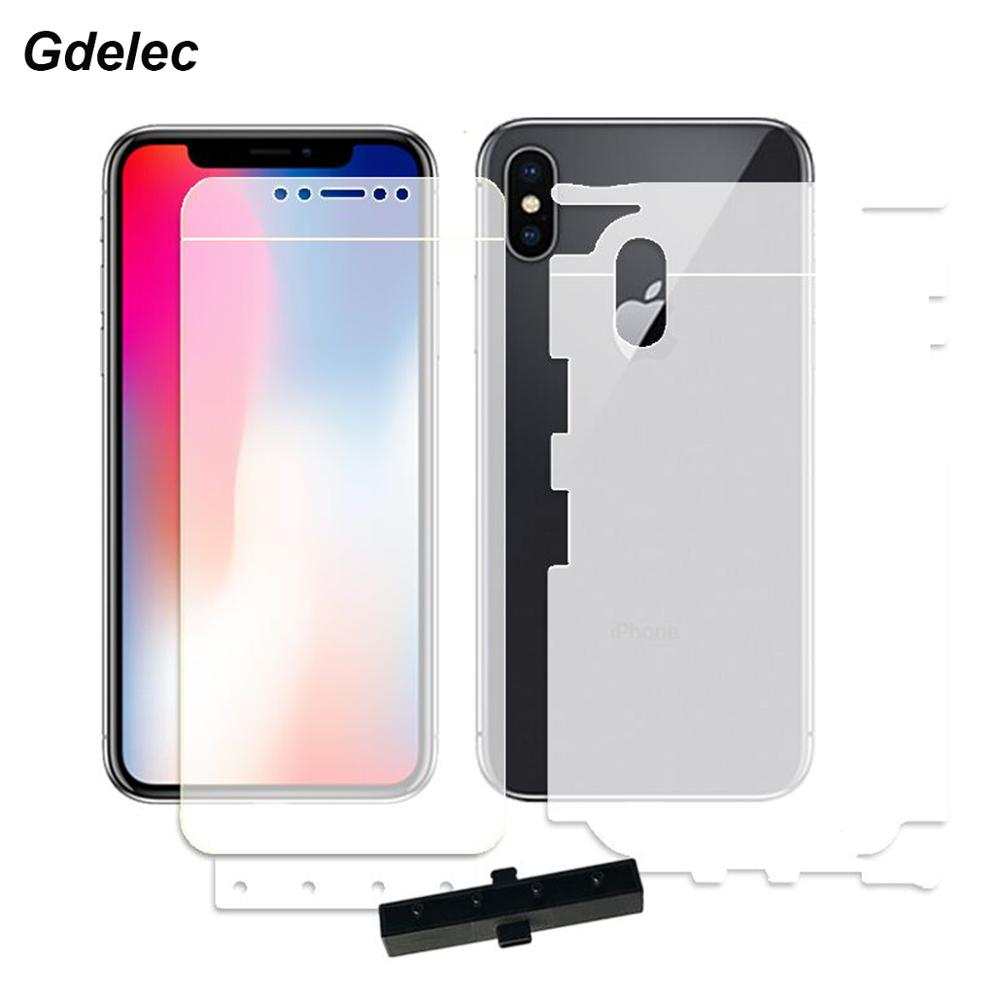 2PCS Front+Back Soft Hydrogel Film For IPhone X XR Xs Max TPU Full Cover Screen Protector For IPhone 8 7 6s 6 Plus 5s Nano Film