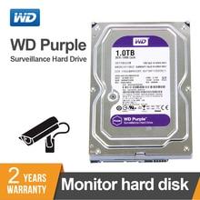 WD новый фиолетовый 1 ТБ наблюдения внутренний жесткий диск кэш 3,5 дюймов 64 м кэш SATA III 6 ГБ/сек. HDD HD Жесткий диск для Видеонаблюдение DVR NVR