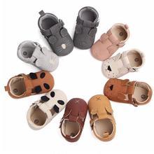 Buckle Strap Newborn baby shoes soft sole first walker girls