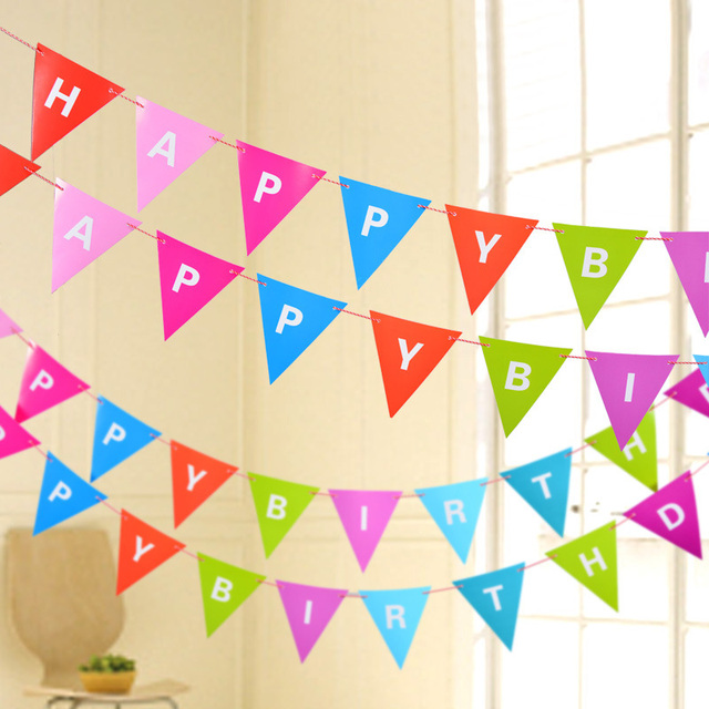 Kawaii Colorful 3M Happy Birthday Letters Party Banner For Birthday ...