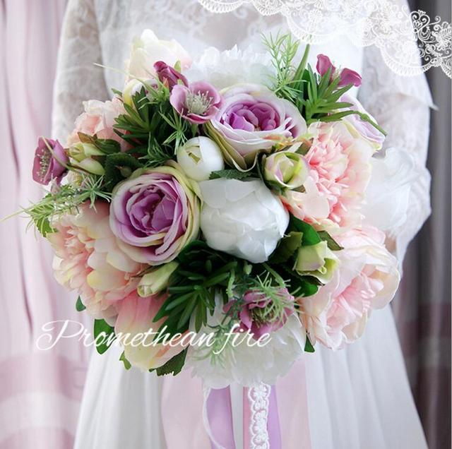 New beauty colorful wedding bouquet artificial bridal bouquets soft new beauty colorful wedding bouquet artificial bridal bouquets soft pink purple bridesmaid bouquet bride holding flowers mightylinksfo