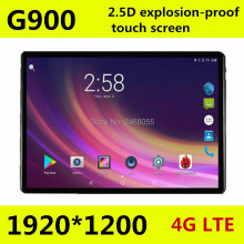 Купить с кэшбэком 10.1 inch Octa core tablet pc G900 2.5D screen Android 8.0 3G 4G LTE Dual SIM 1920*1200 IPS 4GB 128GB wifi Bluetooth tablets