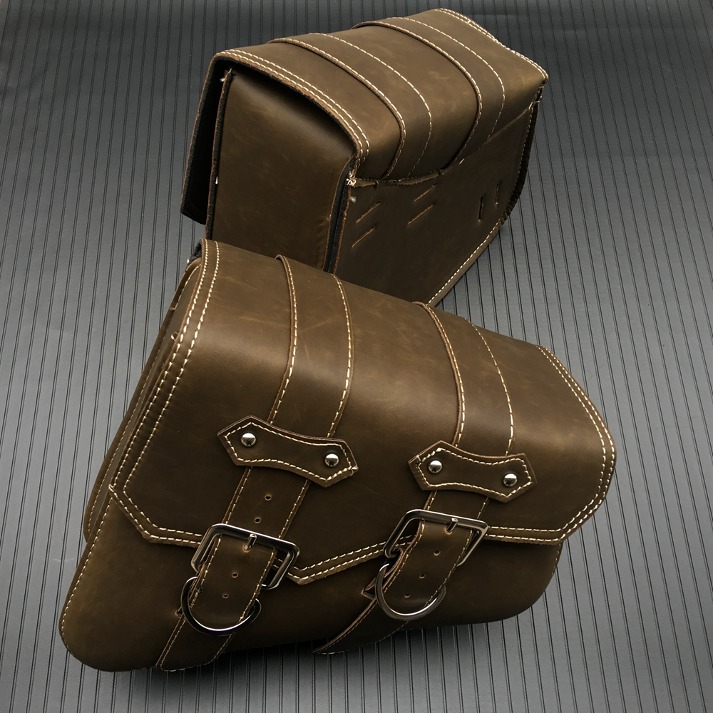 1Pair Motorcycle Bag For Sportster XL 883 1200 Motorcycle Saddle Bags Pu Leather Motorbike Side Tool Bag Out Door Luggage