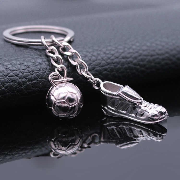Металлический брелок новый брелок-Мода Горячая Высокое качество футбольные бутсы и с футбольным мячом, металлический автомобиль Подарочный Брелок для ключей брелок для ключей