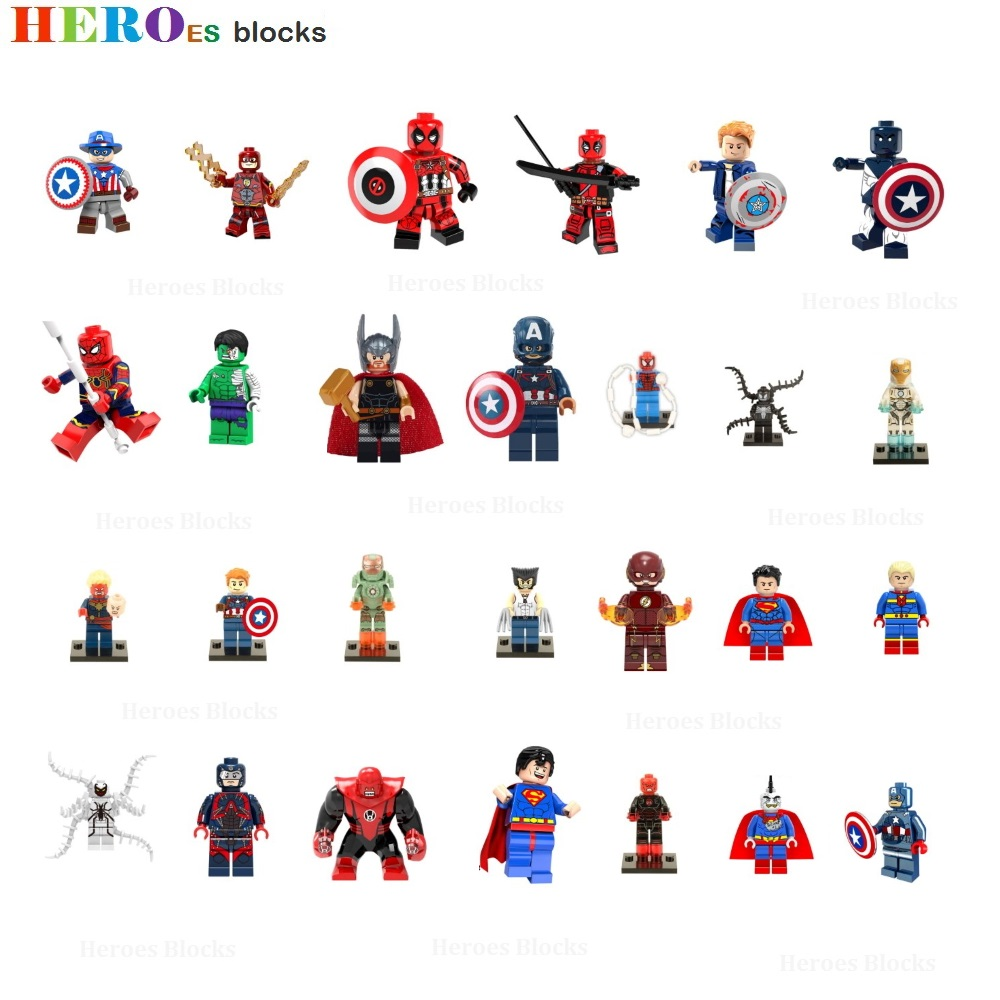Marvel Heroes Assemble Thor X-MEN Wolverine Figures Building Blocks Kid Toy Gift