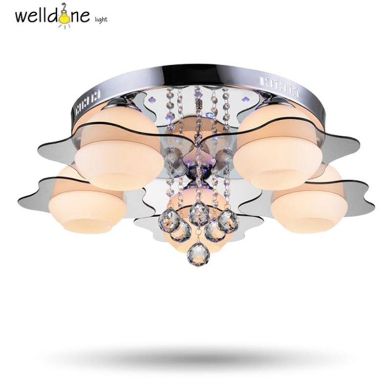 Luxury Crystal Led Ceiling Lights Restaurant Aisle Living Room Balcony Lamp Modern Lighting For Home Decoration Adjustable Light european retro nostalgia classical ceiling lamp living room restaurant aisle stairs balcony ceiling lamp free shipping