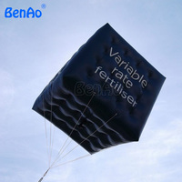 AO740 BenAo Free shipping 2M Hot Sale PVC Black Inflatable Helium Cube Balloon , Square Ball For Advertising