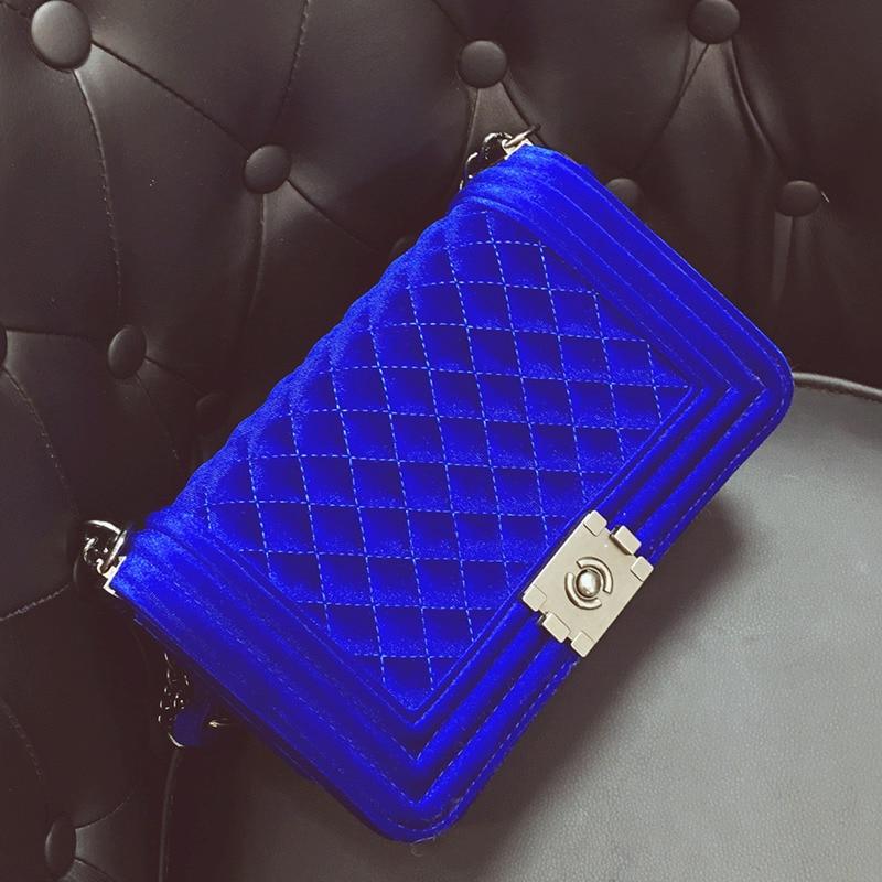 diamante bordado bolsa de veludo Modelo Número : Women Messenger Bag