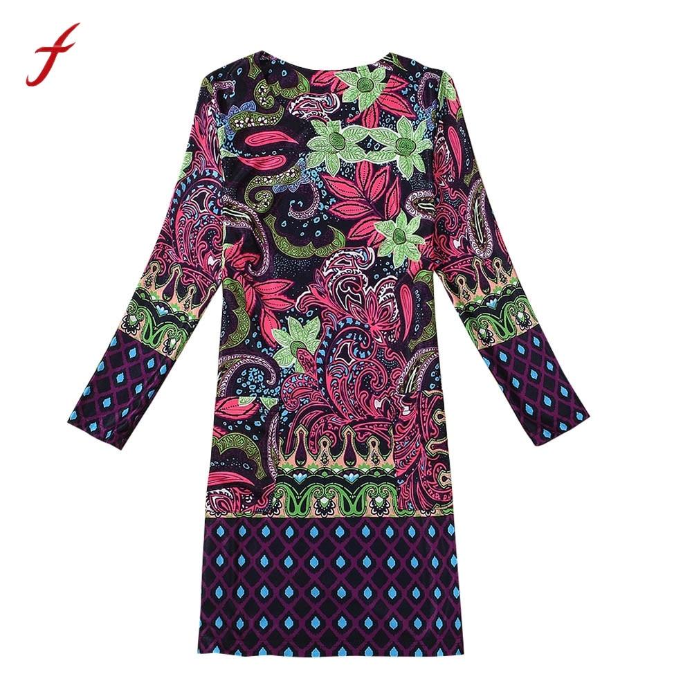 Casa Salle De Bain Rennes ~  Femmes V Tements Vogue Tribal Style Femmes Robe 3 4 Manches Fleur