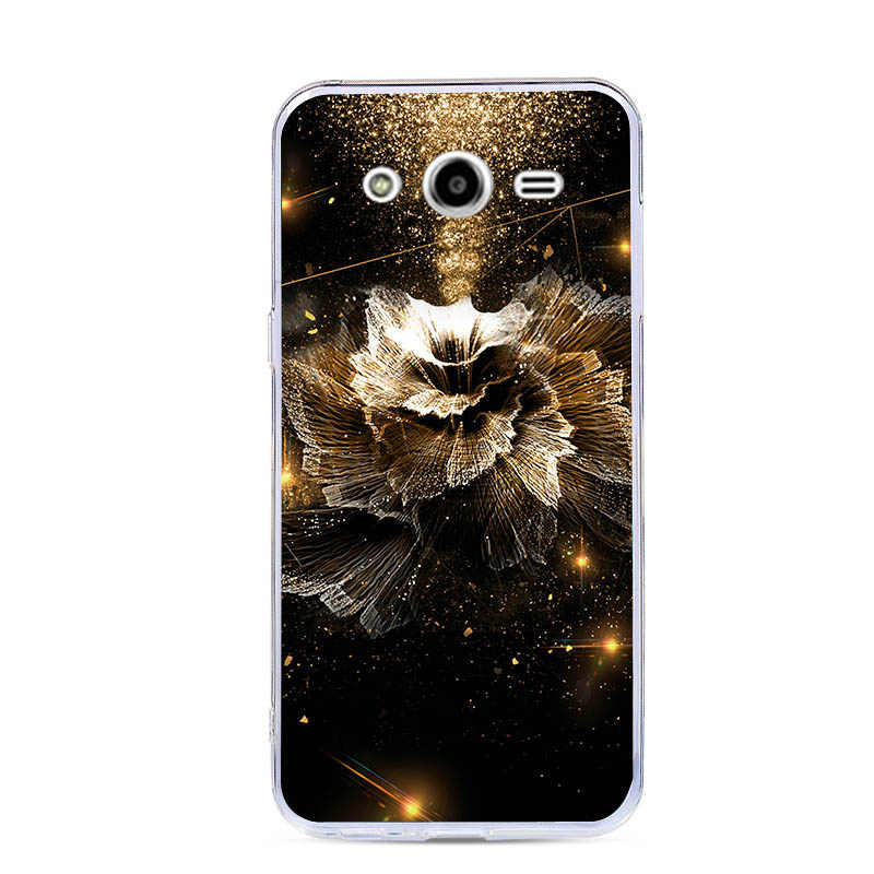 "For Samsung Galaxy core2 core 2 SM G355H Silicone Cover Painted Animal Cat Soft Case G355M SM-G355h/ds Duos 4.5"" Back Covers"
