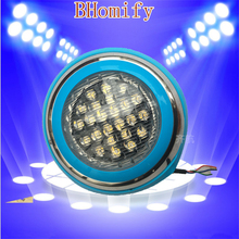 LED Swimming pool light 54W AC/DC 12V RGB IP68 LED remote control underwater Lamp Outdoor Lighting Pond lights led piscina цена в Москве и Питере