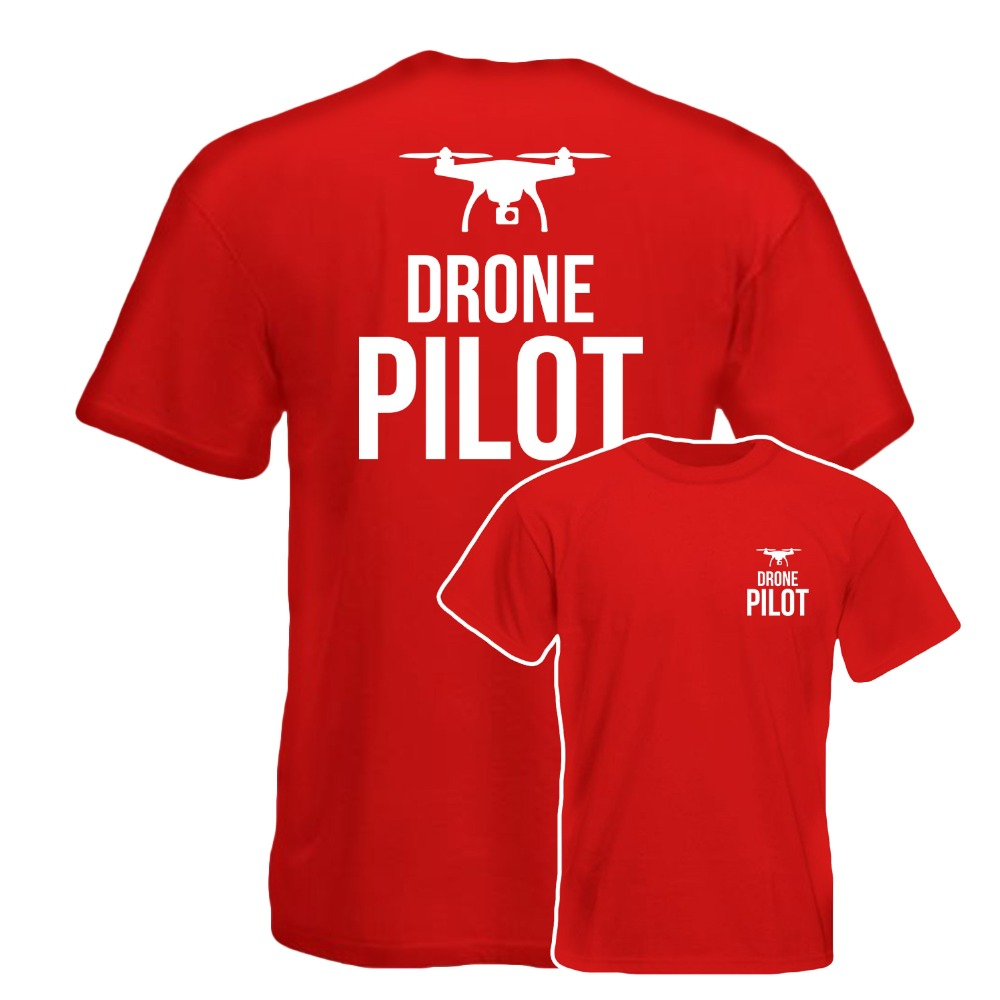 Drone Pilot T Shirt Front Back Printed Work Wear Gift Tee Top