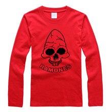 Heißer verkauf 2017 RAMONES band persönlichkeit literatur und kunst original sperren langarm-liebhaber-t-shirt männer und frauen t-shirt-5-5