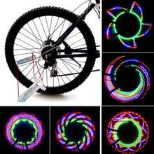 New Colorful Bicycle Lights Bike Cycling Wheel Spoke Light 16 LED 32-pattern Waterproof