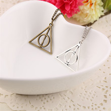 Vintage Fine Potter Pendant Necklace Movie Deathly Hallows Sweater Chain for Women Man Jewelry Gift
