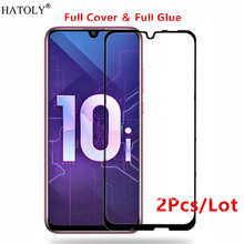2Pcs Huawei Honor 10i Glass Tempered for Film Full Glue Cover Screen Protector