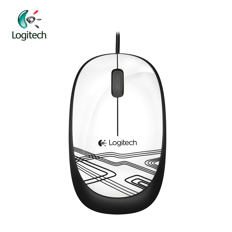 Logitech M105 Wire Mouse para Mac OS / Windows con cable de 1000 ppp Verificación oficial