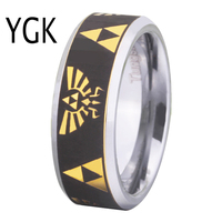 Free Shipping USA UK Canada Russia Brazil Hot Sales 8MM Legend Of Zelda Black Engraved Golden