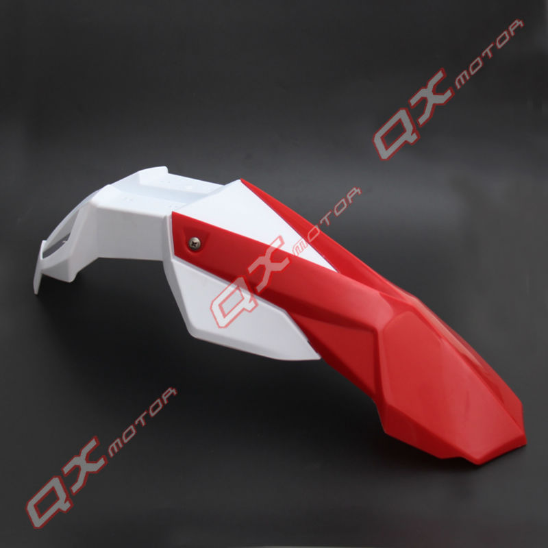 White+Red Universal Motorcycle Front Fender Cross Motos Dirt Bike Fenders Fit  for DRZ KX YZ  WR XR CRF RMZ KLX free shipping [zob] supply of new original omron omron limit switch shl w2155 5pcs lot