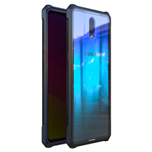 Metal Frame Shell For Oppo R17 Pro Oppo R17 Case Metal Bumper+9h Tempered Glass Cover 360 Protective For Oppo R 17 Oppo R 17 Pro цена в Москве и Питере